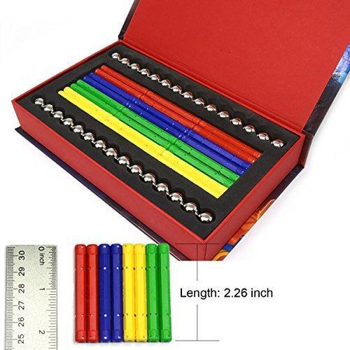 156 PC Magnetic Building Set W 96 Magnet Sticks /& 60 Steel Balls Brain Toys Fami