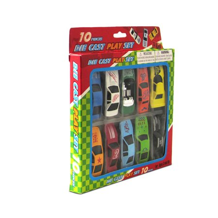 Vehicle Car Collection Set of 10 with a Red Convertible