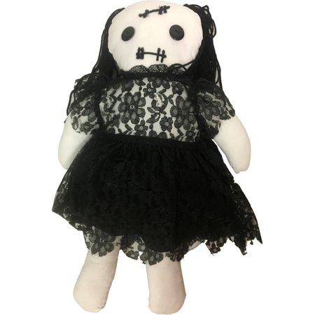 Annadoll Black Lace Dress Doll Halloween Decoration Prop Ornament