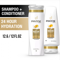 Pantene Shampoo Conditioner Set, Daily Moisture Renewal, 12-12.6 oz