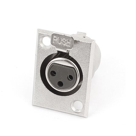 XLR Female Jack Chassis Panel Mount Connector 3 Pin Nickel Audio (Xlr Female Jack)