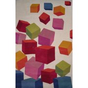 Crescent Drive Rug Company Fantasia Hand-Tufted Wool Beige/Pink Area Rug