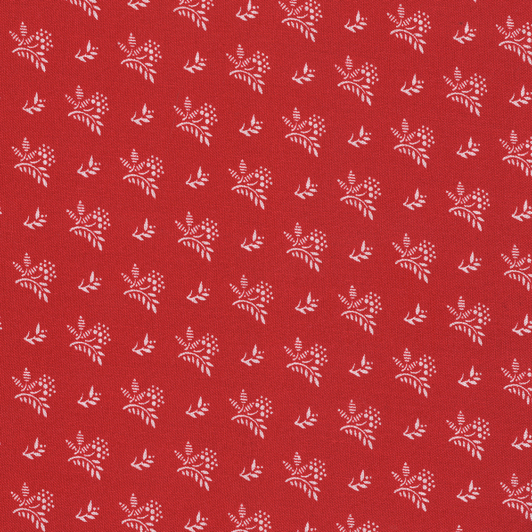 SHASON TEXTILE (3 Yards cut) 100% COTTON PRINT QUILTING FABRIC, RED / WHITE MINI BOUQUET