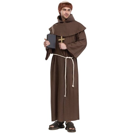 Medieval Monk Adult Halloween Costume - One Size 33-45