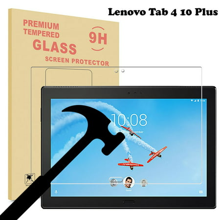 (Lenovo Tab 4 10 Plus / Lenovo Moto Tab Glass Screen Protector, EpicGadget Ultra HD Clear Anti Bubble Anti Scratch 9H Hardness Tempered Glass Screen Protector For Lenovo Tab 4 10 Plus Released in 2017)