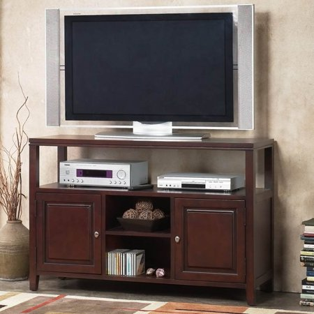 Alpine Furniture Anderson TV Console / Server – Medium Cherry