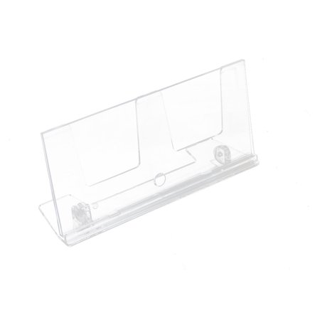 Office Counter Plastic L-Shaped Photos Display Name Card Holder 20cm x 9cm (L-shaped Counter)