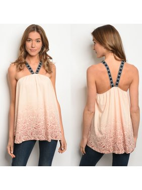 7d75e68c Product Image JED FASHION Women's Halter Ombre Paisley Print Sleeveless Top