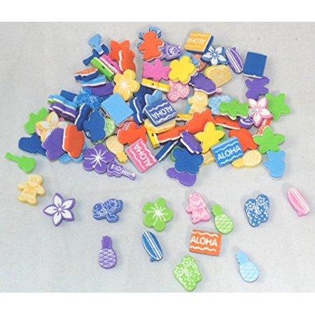 100 Fabulous Foam Luau Bead Assortment (Luau Crafts)