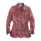 Tin Haul Western Shirt Womens L/S Snap Multi-Color 10-050-0064-0463 MU