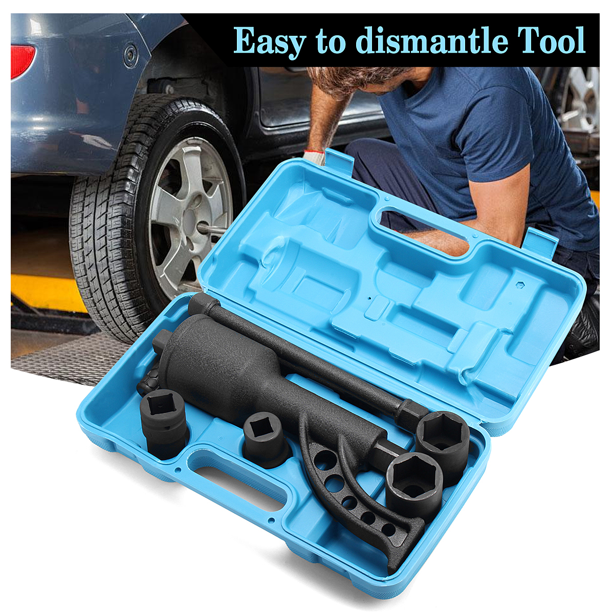 1:110 Ratio Saving Wrench Lug Nut Remover Labor Heavy Duty Torque Multiplier