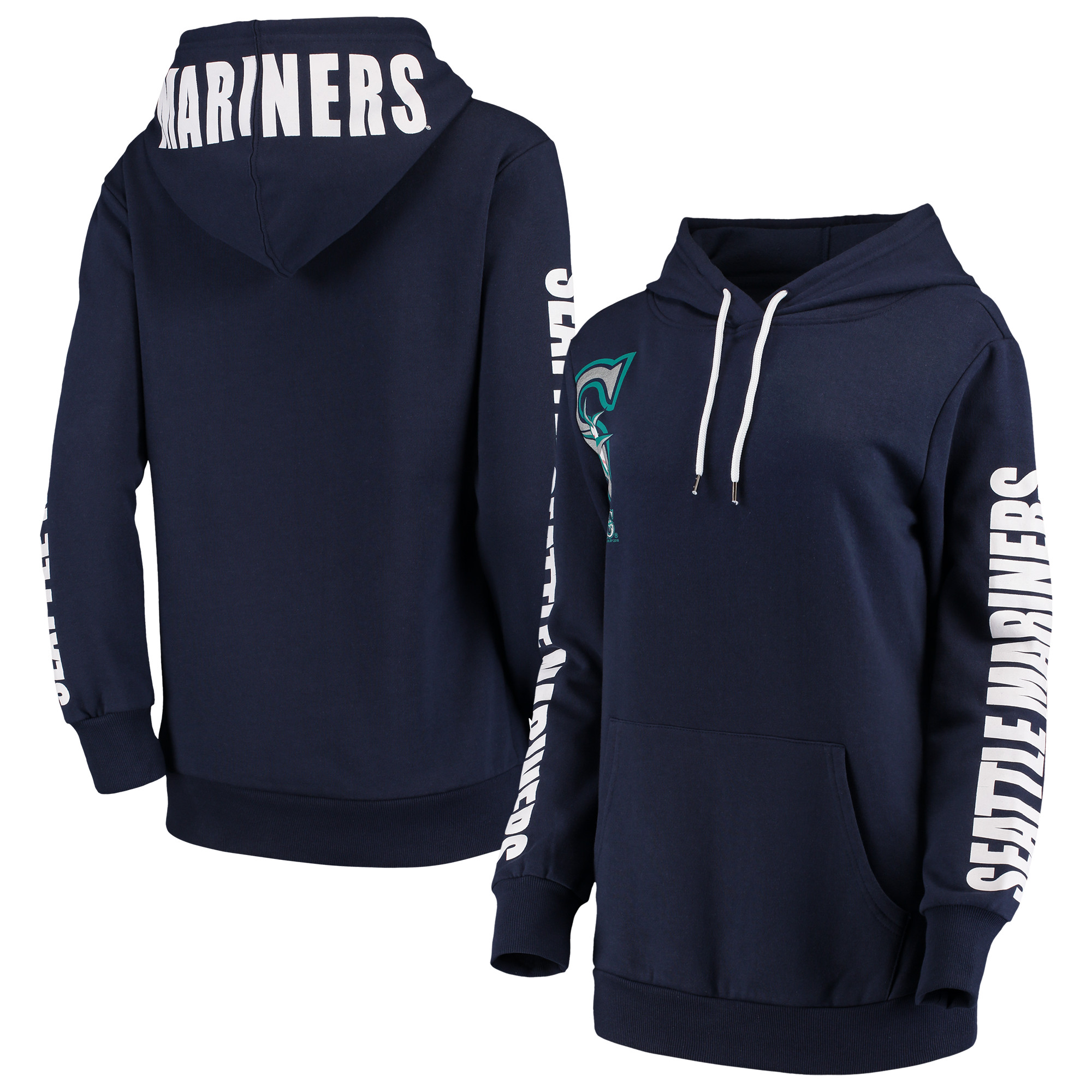 Seattle Mariners G-III 4Her by Carl Banks Women's 12th Inning Pullover Hoodie - Navy