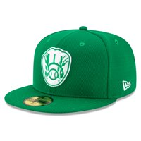 Milwaukee Brewers New Era 2021 St. Patrick's Day On Field 59FIFTY Fitted Hat - Kelly Green
