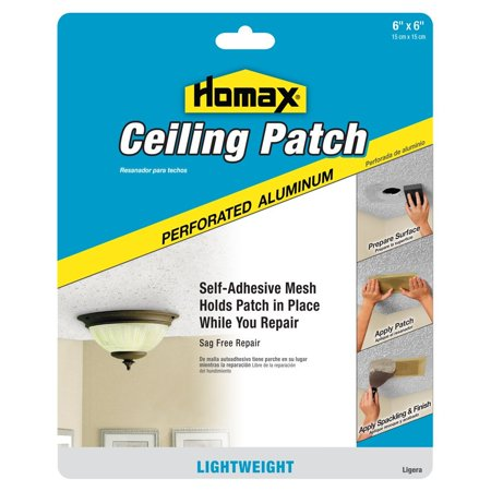 Homax Ceiling Patch Perforated Aluminum 6 X 6, Self-Adhesive Mesh By Homax Group