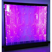 Fountain Bubble Wall Display Panel 79 Inches Square Free Standing Multi Color LED Light Restaurant Bar Club Salon Entry Foyer Model SDP53