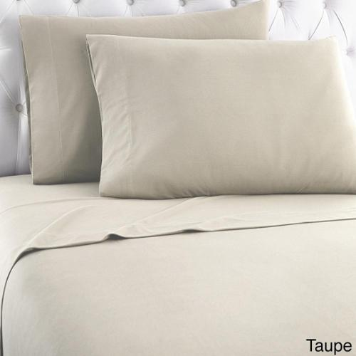 Micro Flannel Solid Sheet Sets California King - Taupe