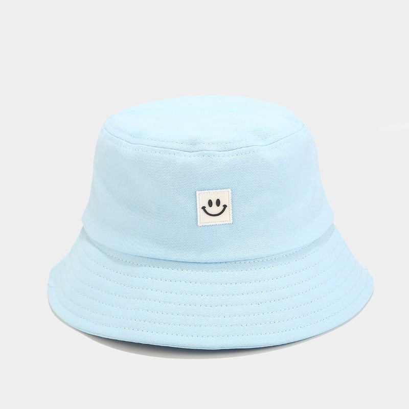 Women Yellow Smiley Face Bucket Hat Mens Fisherman Hat Outdoor Sports Foldable