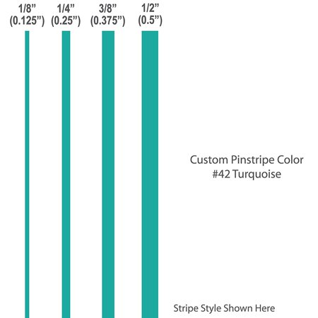 "Turquoise Vinyl - 1/4"" inch wide Pinstripes. / TURQUOISE / 12' Vinyl Stripes / car truck auto vehicle door boat bike motorcycle van universal sticker custom .25"