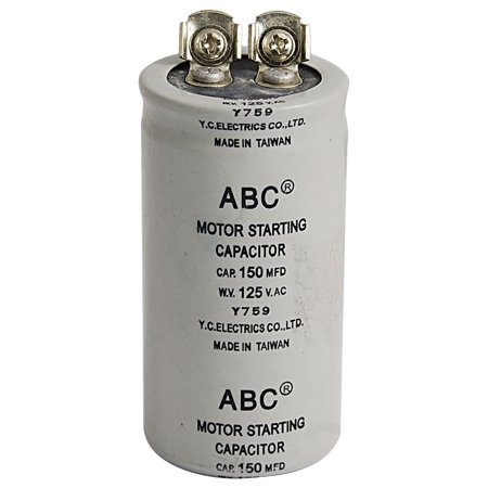 Ac 125v 150uf cylinder motor start capacitor for for Ac motor start capacitor