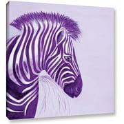 "Lindsey Janich ""Zebras Purple"" Gallery-Wrapped Canvas"