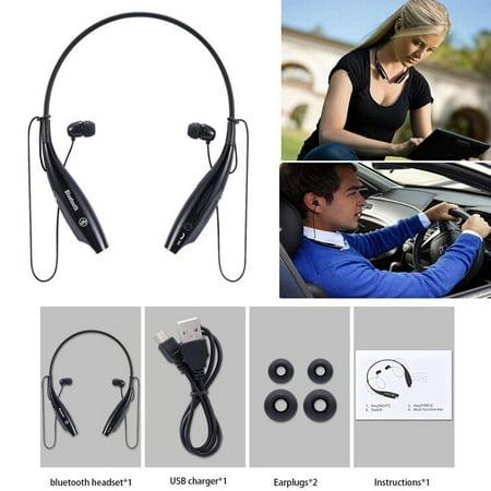 Handsfree Bluetooth Headset Wireless Sports Stereo Headphone Waterproof Earphones For iPhone Samsung White - image 7 of 8