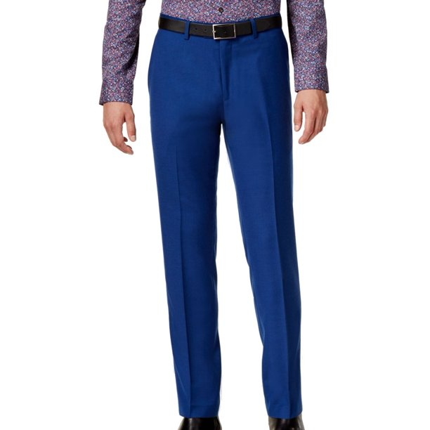 Bar III NEW Cobalt Blue Mens Size 30x32 Slim-Fit Casual Pants Wool