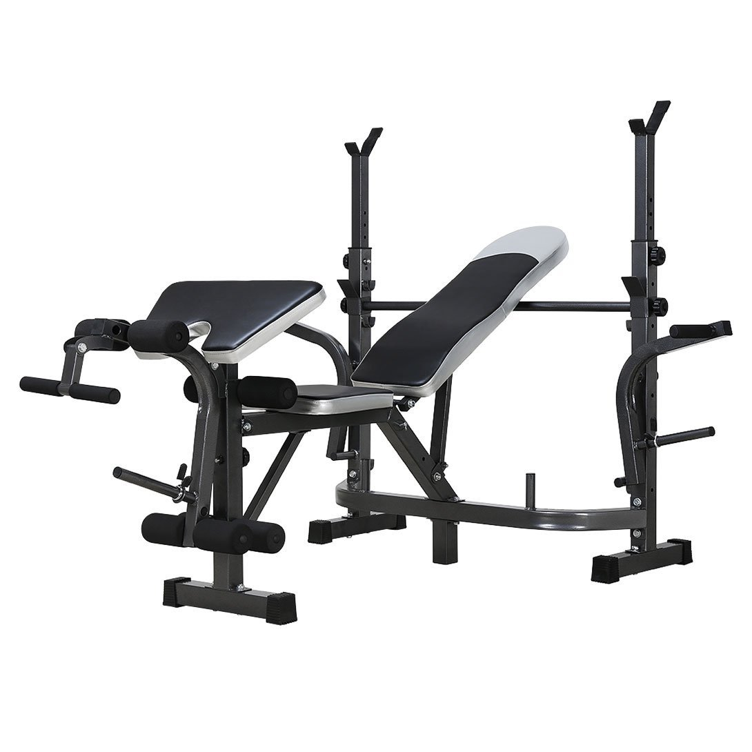 Adjustable Foldable Multifunction Weight Bench Lifting Gym Equipment with squat rack for Home Indoor Exercise