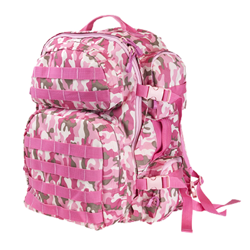 NcStar Backpack, Pink Camo