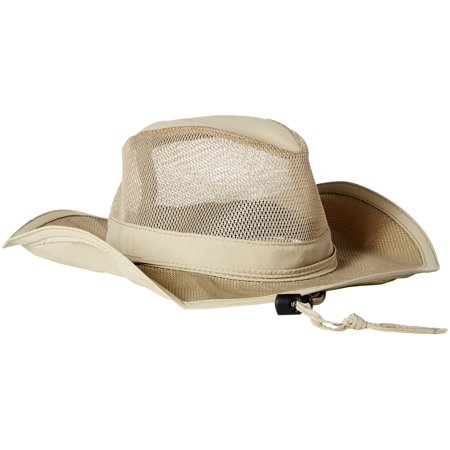 Dpc Outdoor Design Mens Supplex   Mesh Safari Hat Khaki L