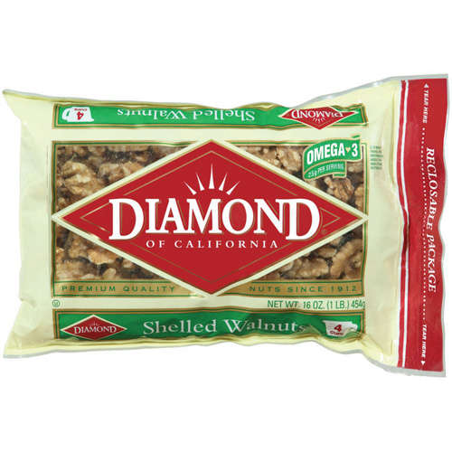 Diamond Of California Shelled Walnut, 16 oz - Walmart.com