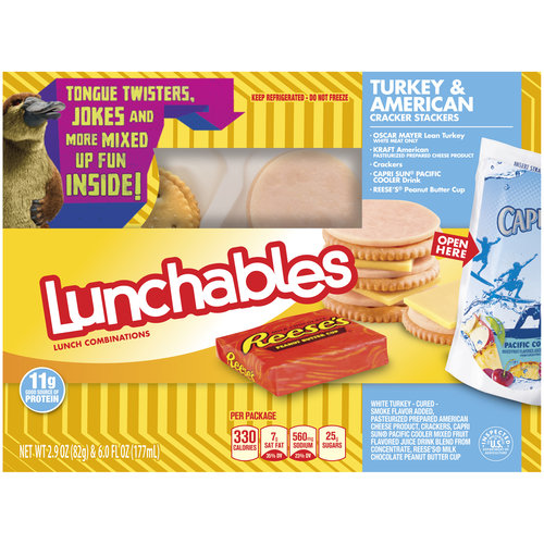 Lunchables Turkey & American Cracker Stackers Lunch Combination, 2.9 oz