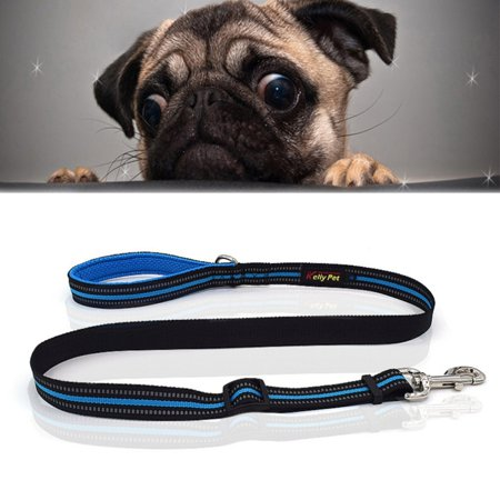 Pet Dogs Nylon Night Reflective Breathable Handheld Traction Lead Leas