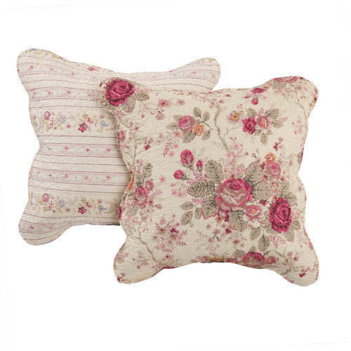Greenland Home Fashions Antique Rose Throw Pillow