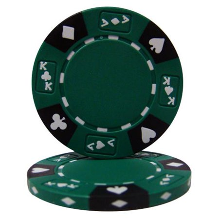 Ace King Poker Chips - Green Ace King Suited 14 g Poker Chips