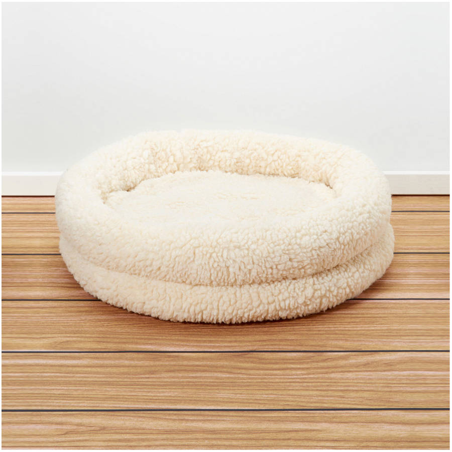 Iconic Pet Premium Snuggle Bed, White, Small