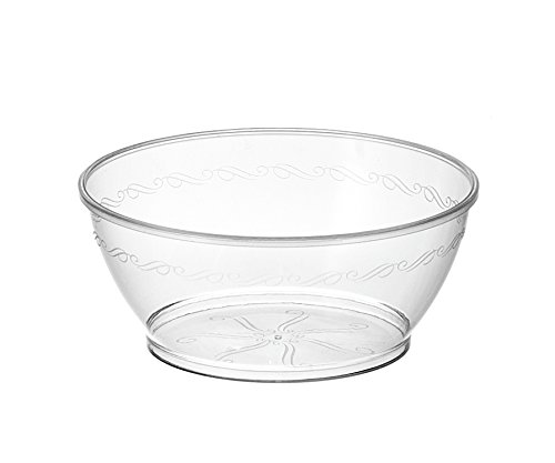 Embellish Hard Plastic 6 Ounce Clear Bowls 50 Count