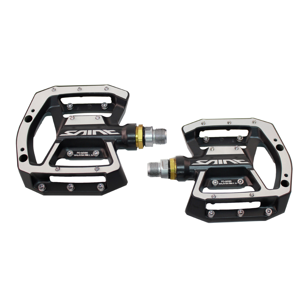 Shimano Saint MX80 Flat Platform Pedals Black Mountain DH Race Downhill Freeride