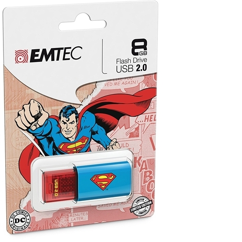 Emtec C600 CLICK 8GB USB 2.0 (SUPERMAN) ECMMD8GC600SM