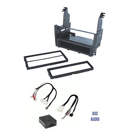 asc car stereo install dash kit and amplifier retention wire harness for  installing an aftermarket radio for 2002 2003 2004 2005 lexus is300 w/amp