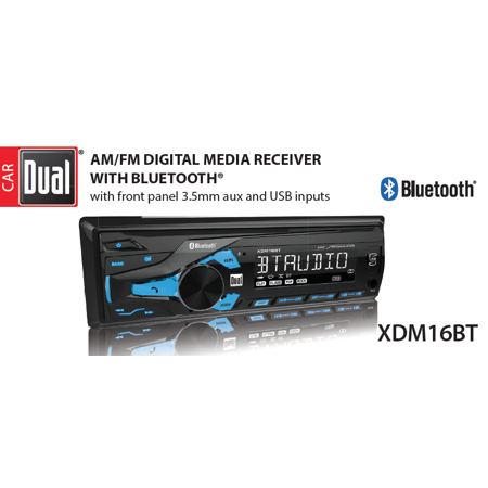 Dual Electronics XDM16BT High Resolution LCD Single DIN Car
