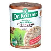 Dr. Korner Buckwheat Crispbread Puffed Cakes Gluten Free Vegan, 3.53 oz / 100 g (Pack of 3)