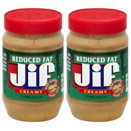 Illipe Butter - (2 Pack) Jif Reduced Fat Creamy Peanut Butter, 40 oz