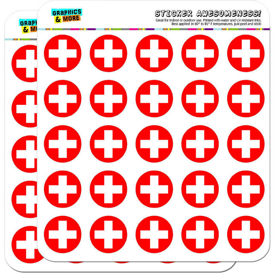 """Switzerland National Country Flag 50 1"""" Planner Calendar Scrapbooking Crafting Stickers"""