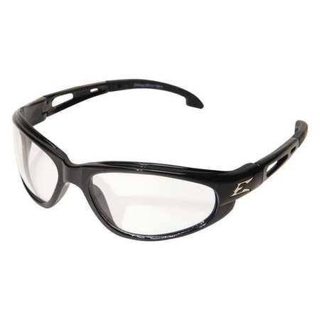 EDGE EYEWEAR SW111AF Dakura Gloss Black Safety Glasses w  Anti-Fog Clear Lens by Edge Eyewear