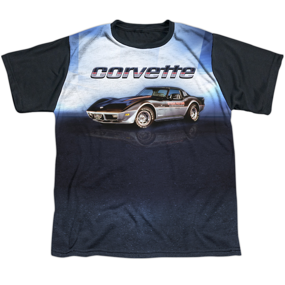 Chevy Blue Vette Check Flag Big Boys Sublimation Shirt