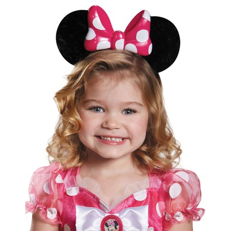 Morris Costumes Accessories & Makeup Minnie Mouse Pink Up Child Ears, Style DG85584 - Halloween Makeup Tutorial Princess