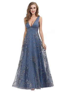 Ever-Pretty Womens Shimmery Tulle Long Formal Dance Evening Prom Dresses for Women 07860 US4