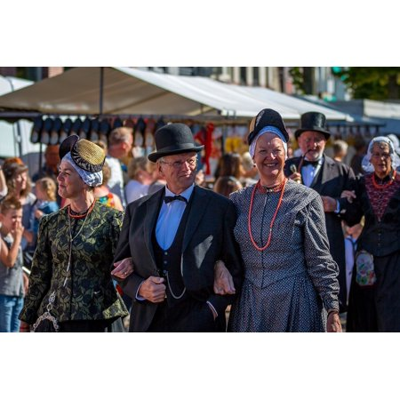 LAMINATED POSTER Costume West Frisian Market Schagen Parade Folklore Poster Print 24 x 36 - Key West Halloween Parade