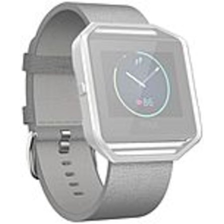 Fitbit Sleep Activity Monitor Wristband   Mist Gray   Leather  Stainless Steel
