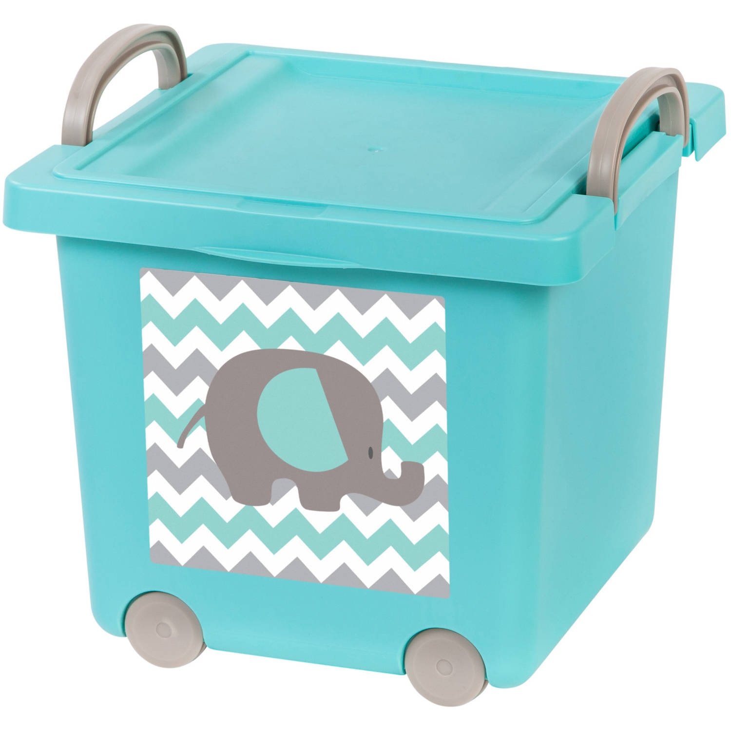 IRIS Baby Toy Storage Box, 4 Pack, Blue